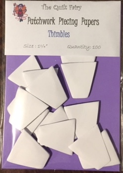"""1 1/4"""" thimbles piecing papers"""