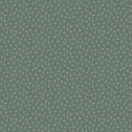 Tealicious - tea leaf texture - dark blue