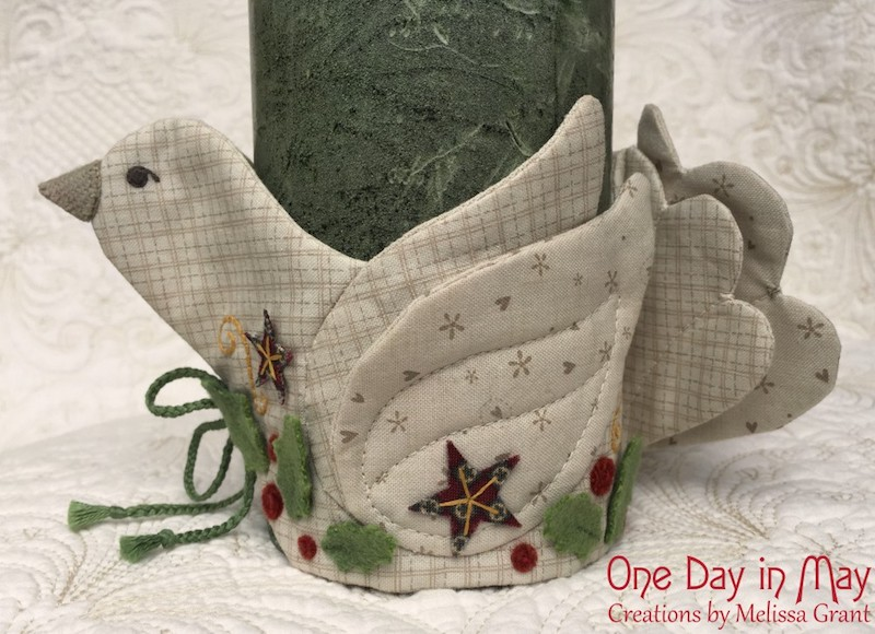 A Merry Dove - Jar or Candle Wrap