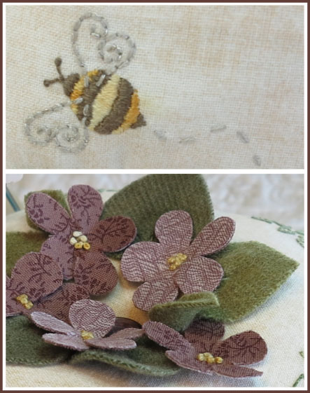 'For the Love of Violets' pincushion