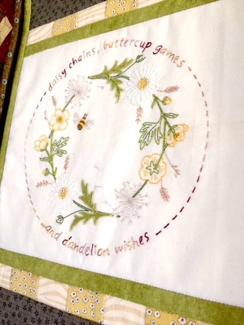 'Gather Me a Posy' Wallhaning or Framed Embroidery kit