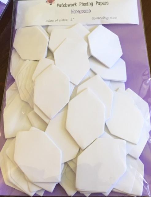"""1"""" honeycomb piecing papers"""