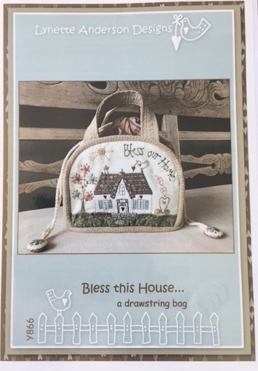 'Bless Our Home' a drawstring bag