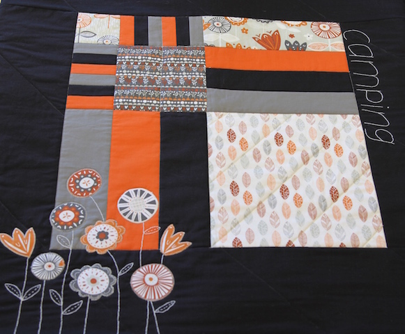 'Camping' Quilt (with the folding pocket option!)