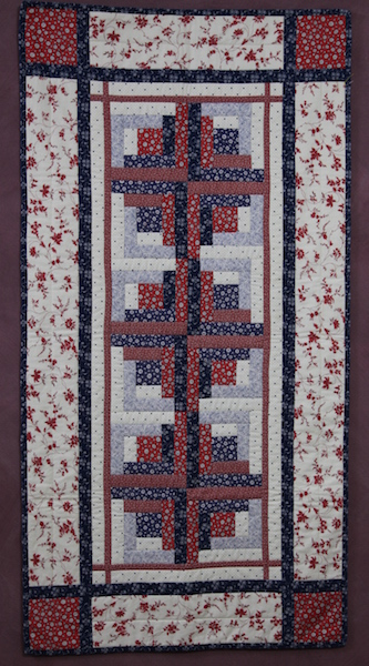 'Twisted Squares' Tablerunner - Saturday 23 May 2020