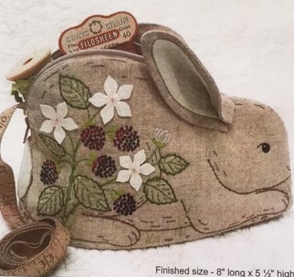'Bunny in the Blackberries' - zipper pouch