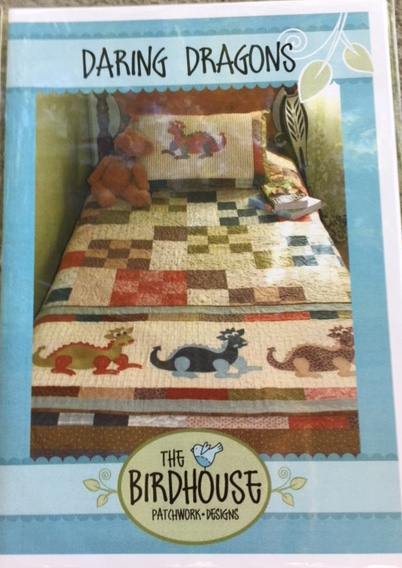 Daring Dragons - Bed quilt, bed runner and pillowcase