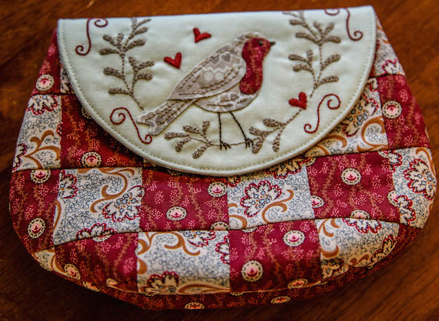 'Red Robin Pouch and Jewellery Keep' Kit