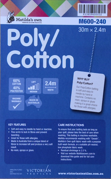 Poly/Cotton Wadding