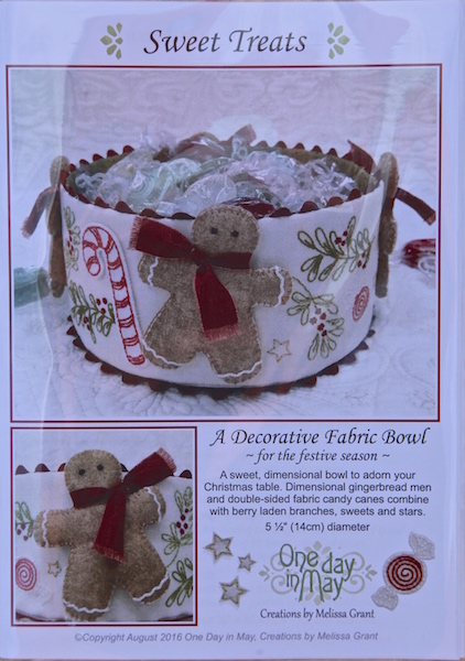'Sweet Treats' fabric Christmas bowl