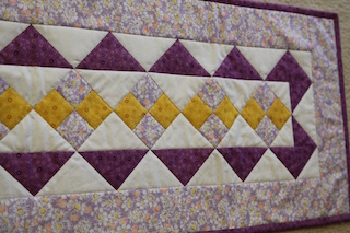 "'Purple Daisies"" Tablerunner"