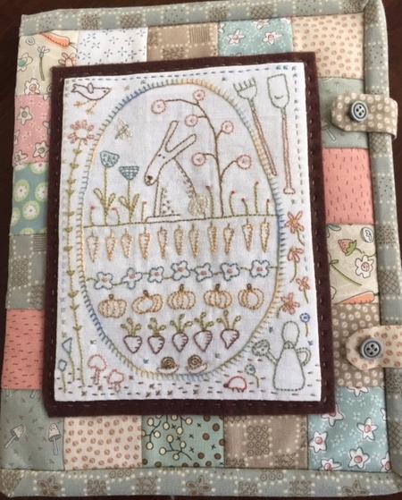 'Rabbit in the Veggie Patch' Needlebook