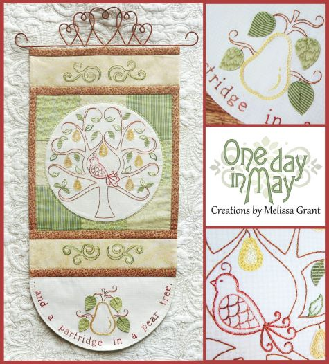 In a Pear Tree Wall Hanging