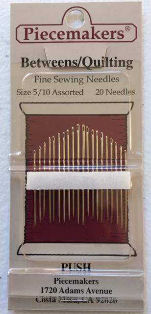 Piecemakers Needles - Between/Quilting