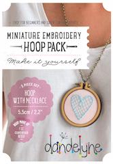 "2.2"" (5.5cm) hoop frame set with necklace"