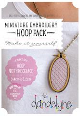 Large vertical oval hoop frame set with necklace