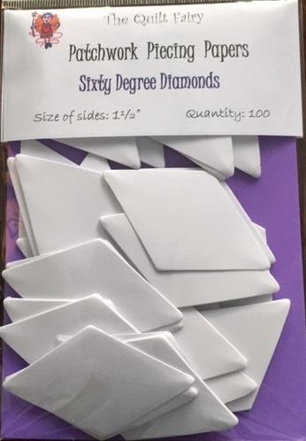 """1 1/2"""" 60 deg diamond piecing papers"""