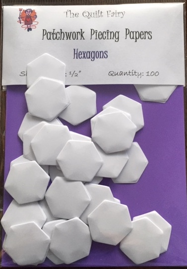 "1/2"" hexagon piecing papers"