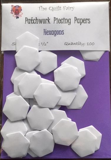 """1/2"""" hexagon piecing papers"""