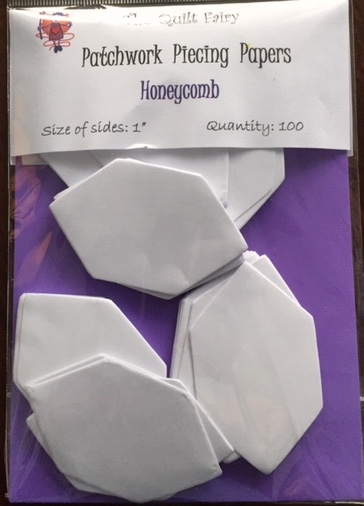 "1"" honeycomb piecing papers"