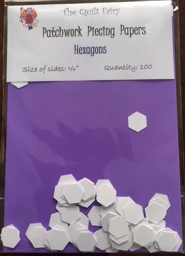 """1/4"""" hexagon piecing papers"""