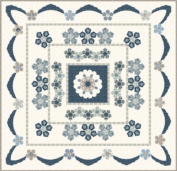 Azure Rose Quilt pattern